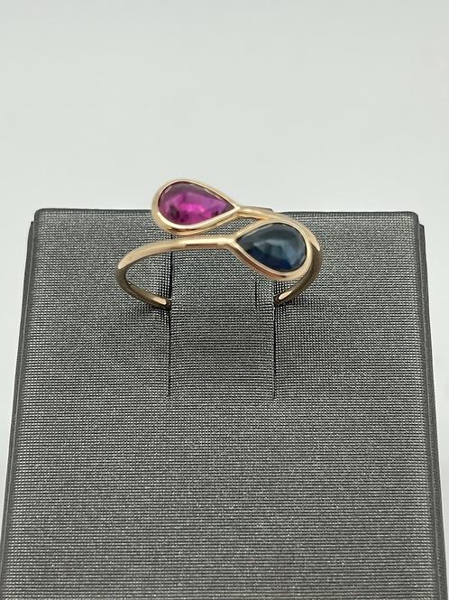 Tresor 18k Ruby And Sapphire Ring