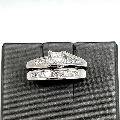3/4ctw 14k Princess Cut Bridal Set