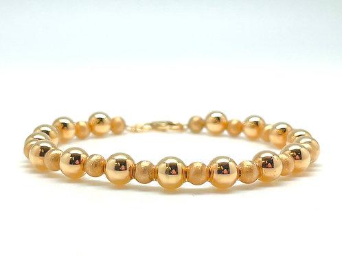 14k Beaded Bracelet