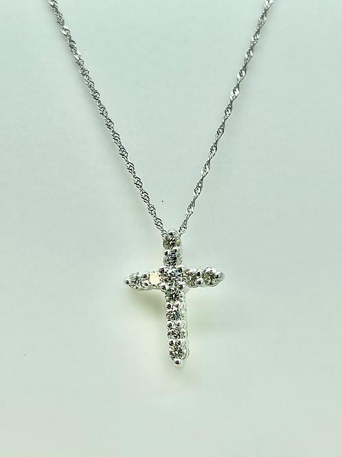 .50ctw 14k Diamond Cross
