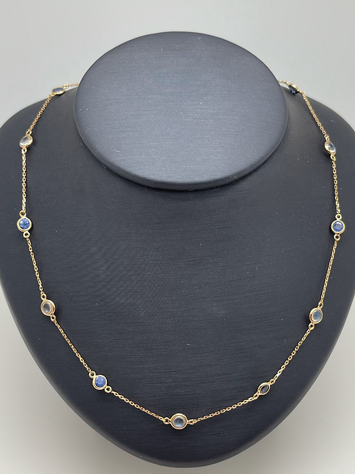 Tresor 18k Sapphire And Moonstone Necklace