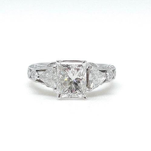 2.83ctw 18k White Gold Engagement Ring