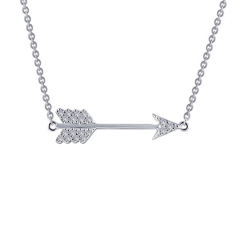 Small Arrow Necklace Lassaire Simulated Diamonds