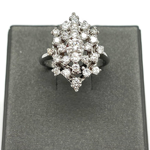 14k Vintage 1.00ctw Diamond Ring