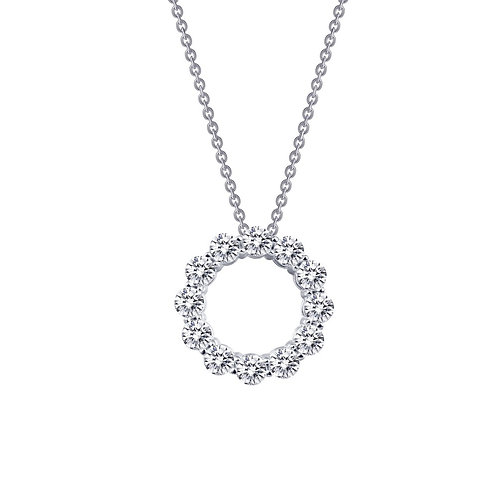 Open Circle Pendant Lassaire Simulated Diamonds