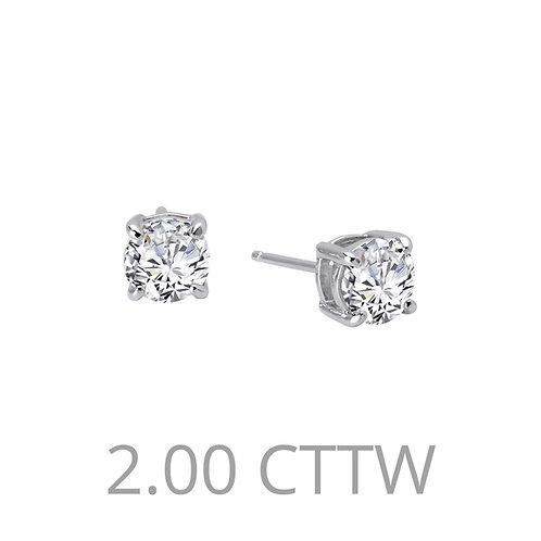 Solitaire Stud Earrings Lassaire Simulated Diamonds