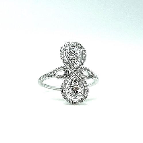 .94ctw 18k European Cut Diamond Ring