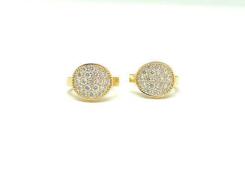 "14ky .62ctw Diamond ""Huggie"" Earrings"