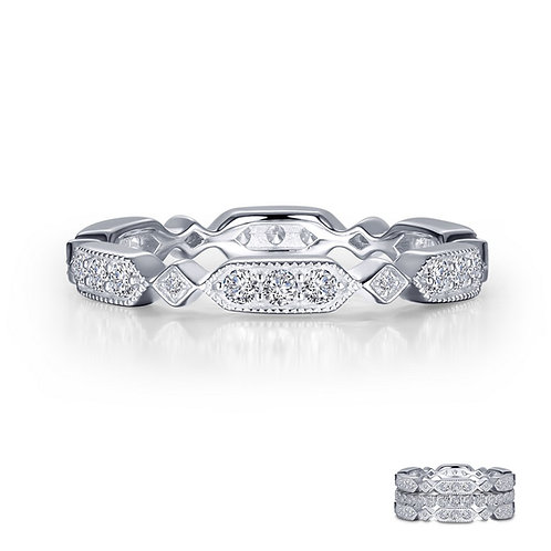 Stackable Eternity Band Lassaire Simulated Diamonds