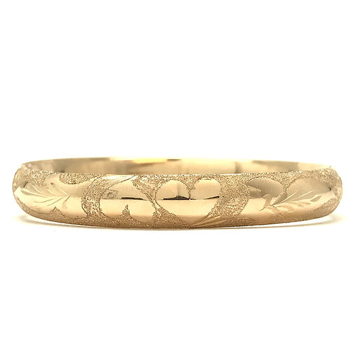 14KT Yellow Gold Bangle with Engraving