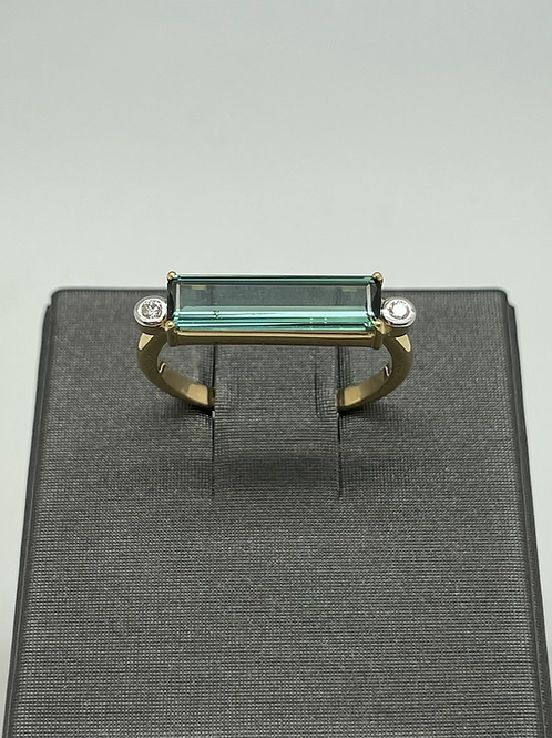 Tresor 18k Green Tourmaline And Diamond Ring