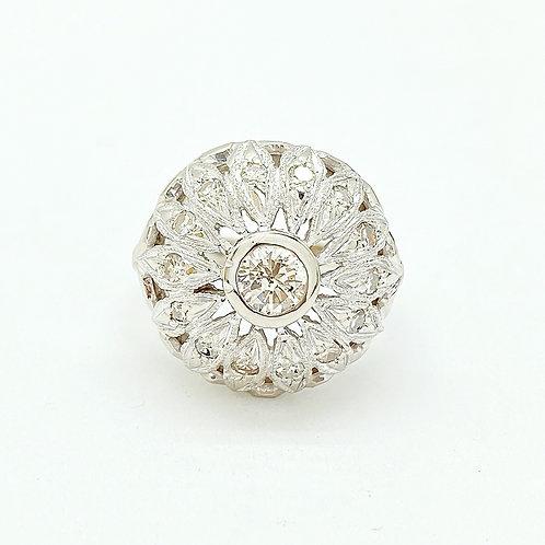 14KT White Gold Estate Diamond Ring