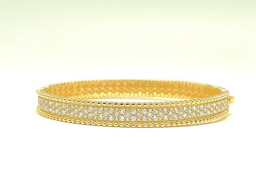 18k yellow gold 2.00ctw Bangle Bracelet