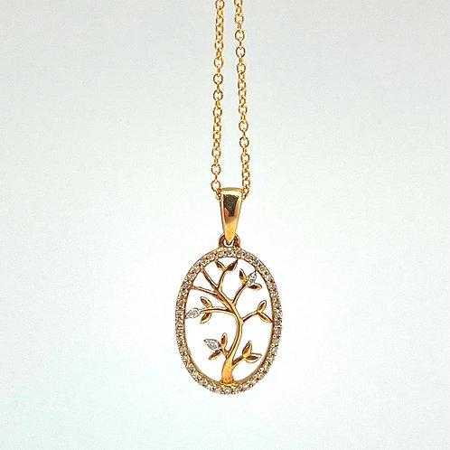 "10k ""Tree of Life"" pendant"