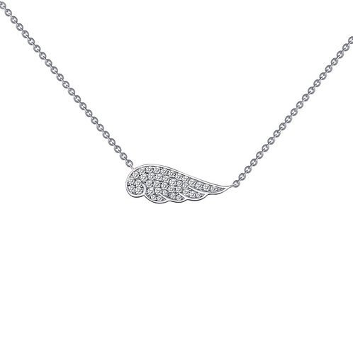 Angel Wing Necklace Lassaire Simulated Diamonds