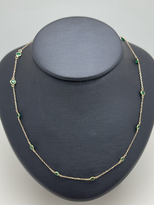 Tresor 18k Emerald Necklace