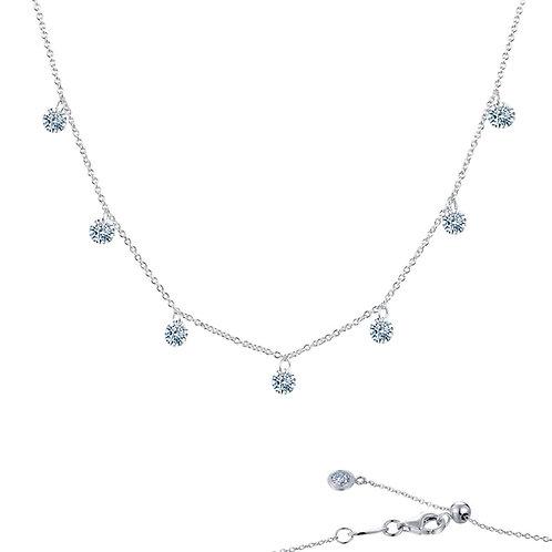 Frameless Raindrop Necklace Lassaire Simulated Diamonds