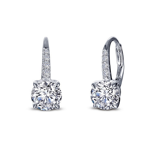 Timeless Drop Earrings Lassaire Simulated Diamonds