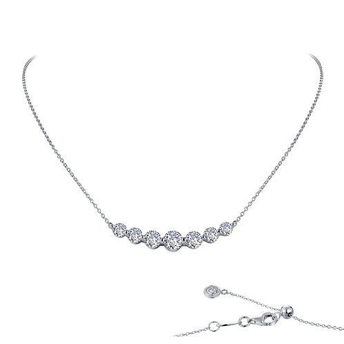 """7 Symbols of Joy"" Necklace Lassaire Simulated Diamonds"