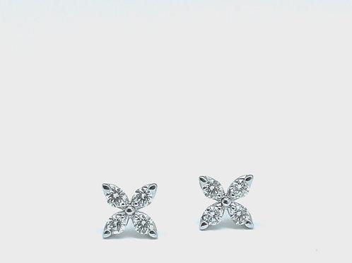 .37ctw 14k White Gold Diamond Earrings