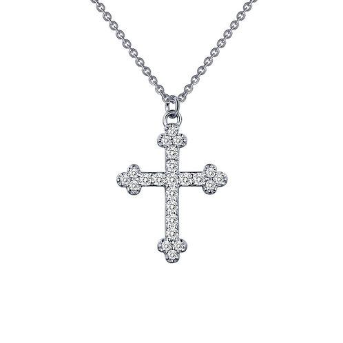 Lassaire Simulated Diamond Cross Necklace