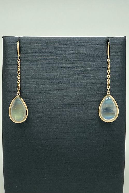 Tresor 18k Moonstone Drop Earrings