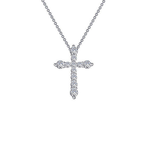 Cross Pendant Lassaire Simulated Diamonds