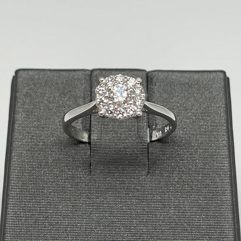 14k .25ctw Halo Diamond Engagement Ring