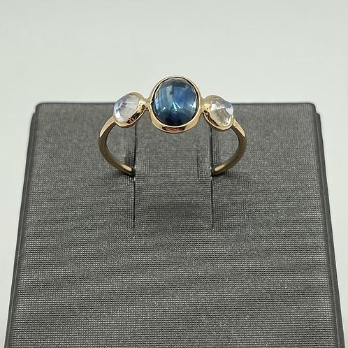 Tresor 18k Sapphire And Moonstone Ring
