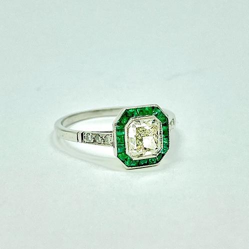 1.13 Carat Art Deco Style Engagement Ring