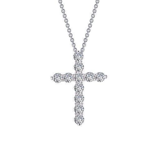 Cross Pendant Necklace Lassaire Simulated Diamonds