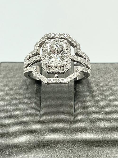 1.76ctw Radiant Cut Diamond Engagement Ring