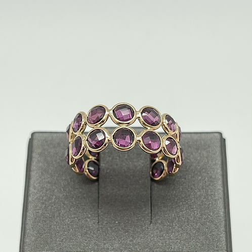 Tresor 18k Rhodolite Two Row Ring