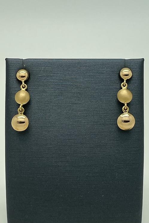 Tresor 18k Three Tier Drop Earrings