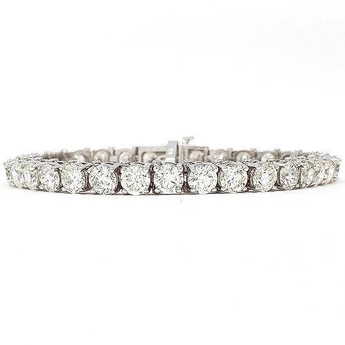 14KT White Gold 16.62ctw Diamond Tennis Bracelet