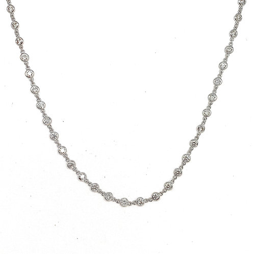 14KT White Gold Diamond by the Yard Necklace