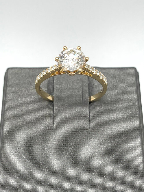 1.42ctw 18k Diamond Engagement Ring