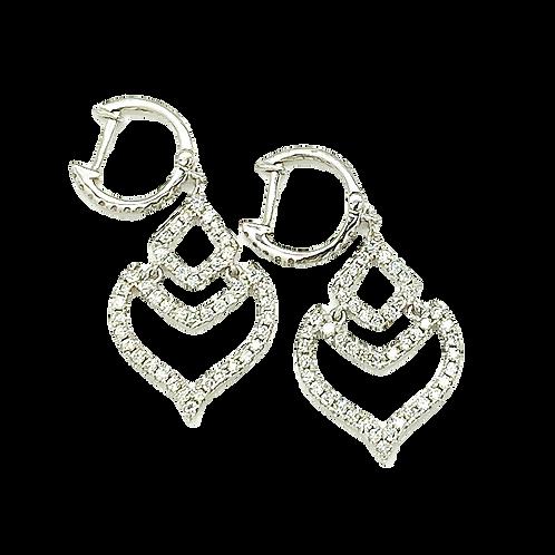14 Karat White Gold Diamond Drop Earrings