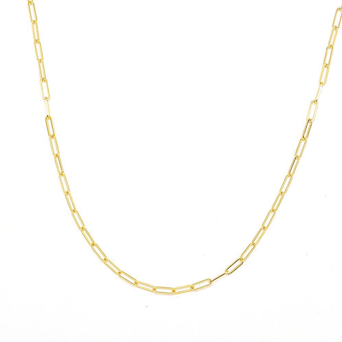 14KT Yellow Gold Paperclip Chain