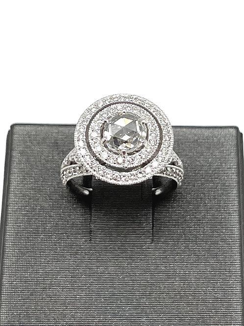 18k Barry Kronen Rose cut Engagement Ring