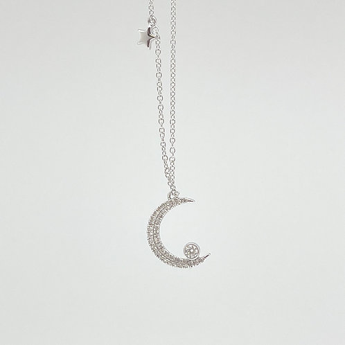 """14k """"Moon And Stars"""" Necklace"""