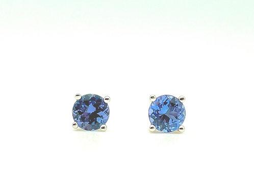 .96ctw Tanzanite Stud Earrings