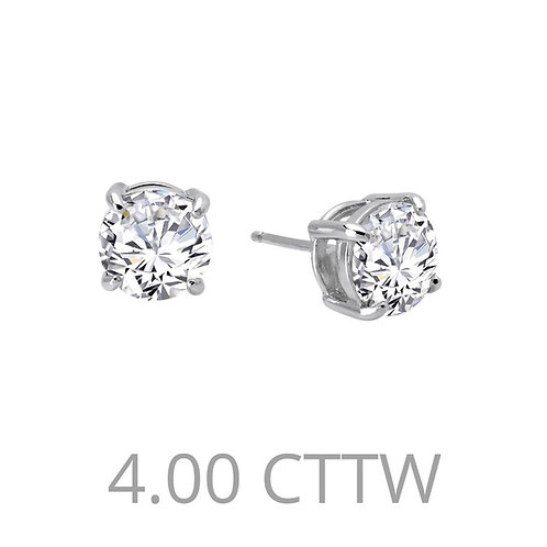 Solitaire Stud Earrings Lassaire Simulated Diamonds