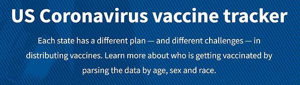 US Coronavirus vaccination tracker banner