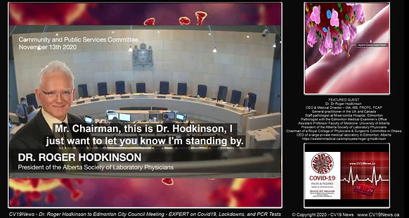 CV19 News - Dr. Roger Hodkinson to Edmon