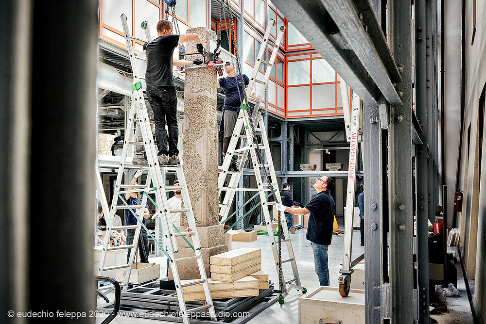 Conservation of an ancient Obelisk at The Getty
