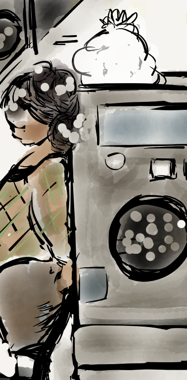 Between Appointments Digital Illustration