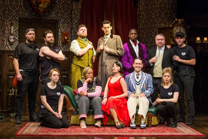 The full company of The Play That Goes Wrong First National Tour