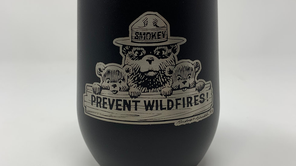 12 oz Licensed Smokey Bear Stemless Wine Cup