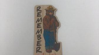 Licensed Smokey Bear Wood Stickers